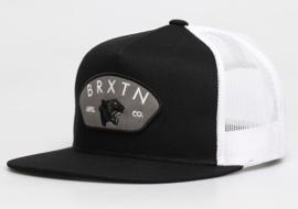 BRIXTON WAYLON MESH TRUCKER CAP BLACK WHITE