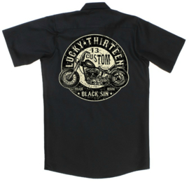 LUCKY 13 BLACK SIN  WORK SHIRT