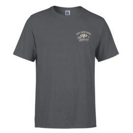 OLD GUYS RULE 'VINTAGE MOTORCYCLES' T SHIRT CHARCOAL