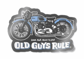 OLD GUYS RULE  'TRIUMPH' DECAL