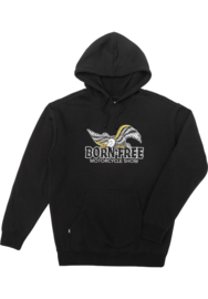 LOSER MACHINE GLORY BORN FREE HOODED FLEECE BLACK