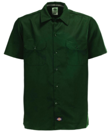 DICKIES SHORT SLEEVE SLIM FIT WORKSHIRT OLIVE GREEN