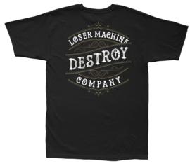 LOSER MACHINE FINELINE  T-SHIRT BLACK