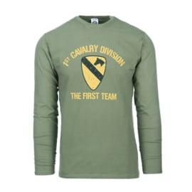 FOSTEX  LONGSLEEVE  T-SHIRT 1ST CAVALRY DIVISION GREEN