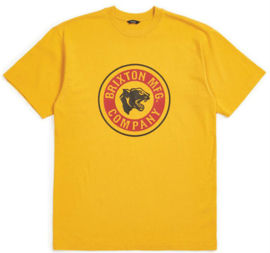 BRIXTON FORTE S/S STANDARD TEE NUGGET GOLD X-LARGE
