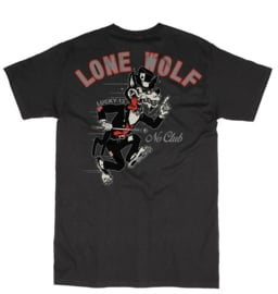 LUCKY 13 LONE WOLF NO CLUB T-SHIRT
