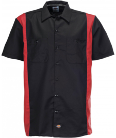 DICKIES TWO TONE WORK SHIRT BLACK/RED