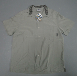 RIETVELD SMALL LOGO EMBROIDERIED COLLAR SHIRT GREY