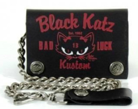 LUCKY 13  LADIES WALLET BLACK KATZ