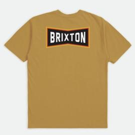 BRIXTON TRUSS T-SHIRT ANTIQUE GOLD