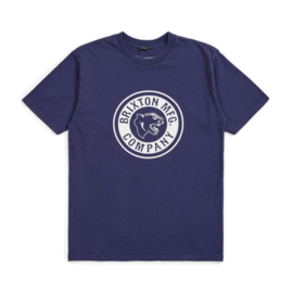 BRIXTON FORTE S/S STANDARD TEE PATRIOT BLUE