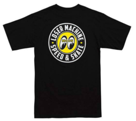 LOSER MACHINE X MOONEYES FACTORY TEAM  T SHIRT BLACK