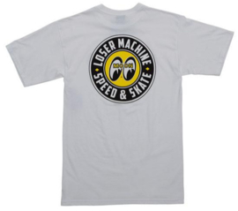 LOSER MACHINE X MOONEYES FACTORY TEAM  T SHIRT WHITE