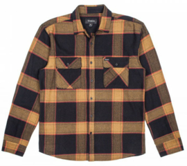 BRIXTON BOWERY FLANNEL BLACK GOLD