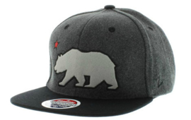 ZEPHYR CALIFORNIA REPUBLIC BEAR WOOL SNAPBACKCAP