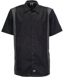 DICKIES TWO TONE WORK SHIRT BLACK/GREY