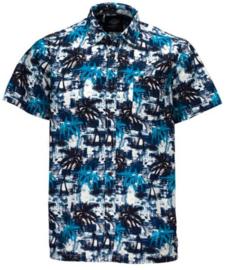 DICKIES HONOLULU SHIRT BLUE