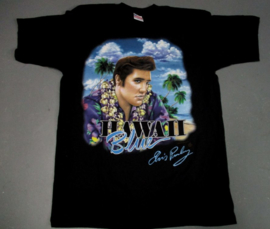 ELVIS BLUE HAWAII T SHIRT BLACK