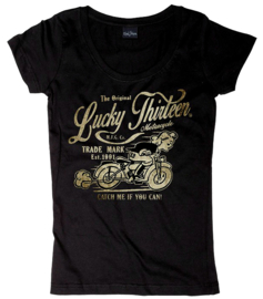 LUCKY 13  CATCH ME WOMEN'S SCOOP NECK TEE