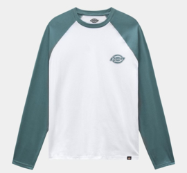DICKIES  LONGSLEEVE BASEBALL T-SHIRT COLOGNE LINCOLN GREEN