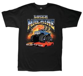 LOSER MACHINE BIG CRUSHER  T-SHIRT BLACK