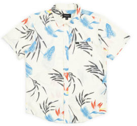 BRIXTON CHARTER SHIRT OFF WHITE BLUE
