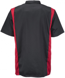DICKIES TWO TONE WORK SHIRT BLACK/RED