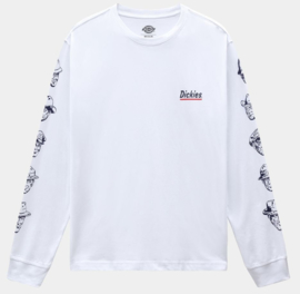 DICKIES FEDERAL DAM LONGSLEEVE T-SHIRT WHITE