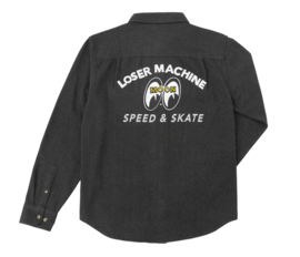 LOSER MACHINE MOONEYES PIONEER FLANNEL SHIRT BLACK