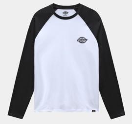 DICKIES  LONGSLEEVE BASEBALL T-SHIRT COLOGNE BLACK/WHITE