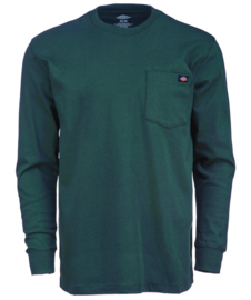 DICKIES LONG SLEEVE POCKET TEE HUNTER GREEN