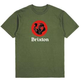 BRIXTON TANK T-SHIRT MILITARY OLIVE WORN WASH