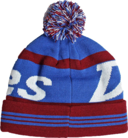 DICKIES MOHAWK BOBBLE BEANIE BURGUNDY/BLUE