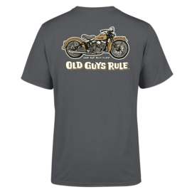 OLD GUYS RULE 'PANHEAD' T-SHIRT CHARCOAL