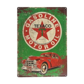 METAL PLATE TEXACO GASOLINE