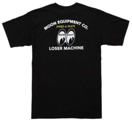 LOSER MACHINE X MOONEYES SPEED SHIFT T SHIRT BLACK