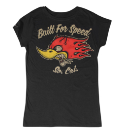 LA MARCA DEL DIABLO BUILT FOR SPEED BLACK T SHIRT