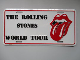 KENTEKENPLAAT THE ROLLING STONES WORLD TOUR