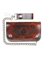 LUCKY 13 IRON HORSE EMBOSSED WALLET