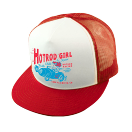 LUCKY 13 HOT ROD GIRL TRUCKER HAT CAP