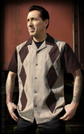 RUMBLE 59 LOUNGE SHIRT PANEL BROWN
