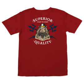 NEWPORT OLD TIME POCKET TEE RED
