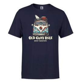 OLD GUYS RULE  'GOOD VIBES III' T-SHIRT - NAVY