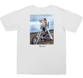 LOSER MACHINE HEATHER POCKET T-SHIRT WHITE