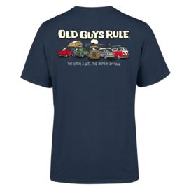 OLD GUYS RULE  'PARKING LOT III'  T-SHIRT  BLUE DUSK