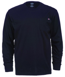 DICKIES LONG SLEEVE POCKET TEE BLACK
