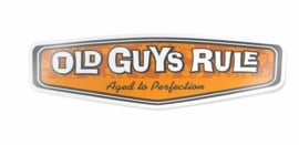 OLD GUYS RULE  'REAR VIEW HIBISCUS' DECAL