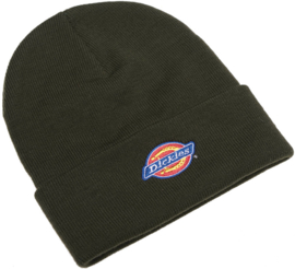 DICKIES COLFAX BEANIE HAT OLIVE GREEN