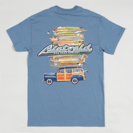 RIETVELD GOT BOARDS  T-SHIRT INDIGO BLUE