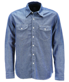 DICKIES HALLSTEAD SHIRT BLUE